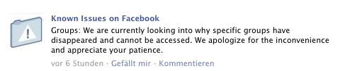 Bestätigt: Facebook Groups Bugs