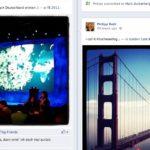 Uploads von einzelnen Bilder werden so auf der Timeline dargestellt