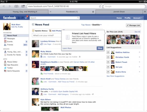 """Facebook bald mit verbesserter Integration der Freundeslisten und """"intelligenten"""" Freundeslisten (Smart Lists)"""