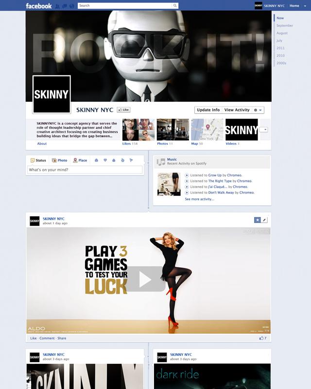 Facebook Timeline – Weitere Mockups von Facebook Pages