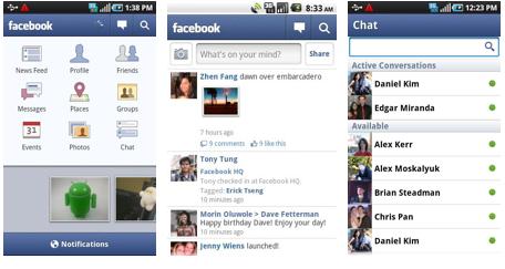 Facebook für Android in Version 1.7 erschienen