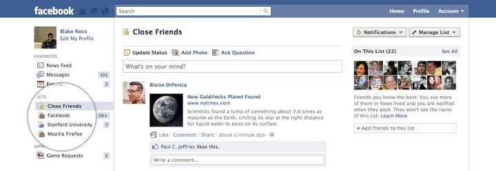Jetzt offiziell: Verbessertes Konzept der Freundeslisten auf Facebook noch diese Woche
