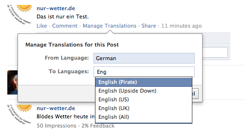 Manage Translations