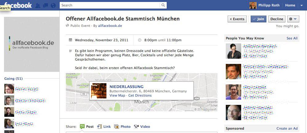 Redesign: Facebook überarbeitet die Darstellung der Events