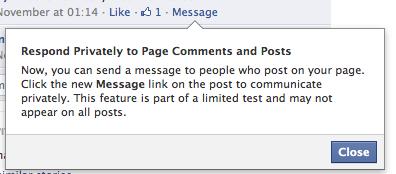 Facebook testet private Nachrichten für Pages und macht private Konversationen mit Fans möglich (!!)