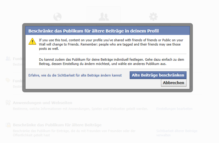 Facebook Chronik – Ich weiß, was Du letzten Sommer getan hast. Und vorletzten.