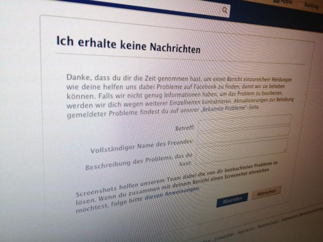57 Facebook Kontaktformulare – So erreicht ihr Facebook zu vielen Themen