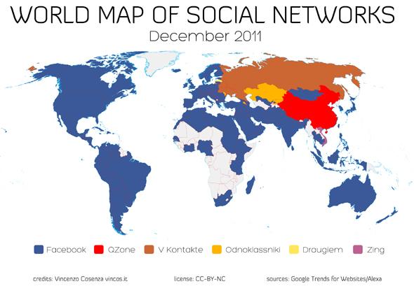 """Nur noch neun Länder bis zur Facebook """"Weltherrschaft"""""""