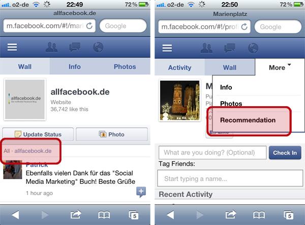 Kleine Updates für die mobilen Facebook Pages