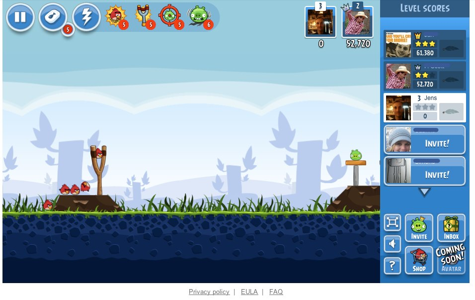 Ab sofort: Angry Birds auch auf Facebook