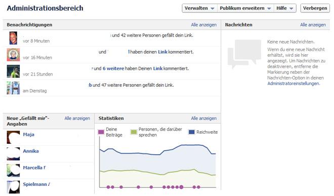 fmc 2012: Timeline für Pages – das neue Adminpanel