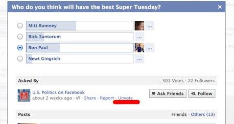 Wusstest du schon – Stimme bei Facebook Questions wieder entfernen