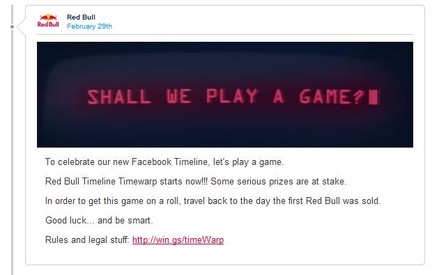 Red Bull Timewarp: Knobelspiele mit der Timeline