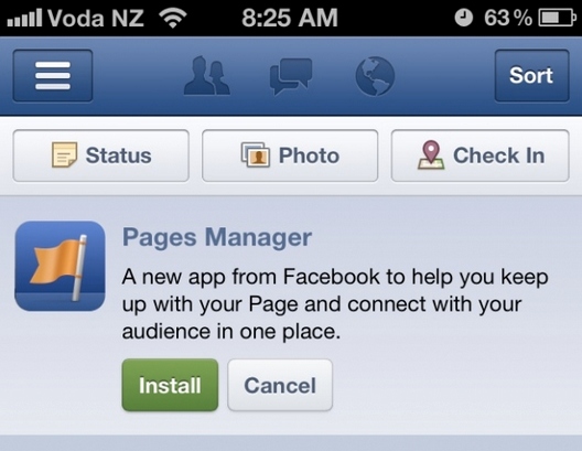 Pages Manager: Facebook iOS App zur mobilen Page Administration