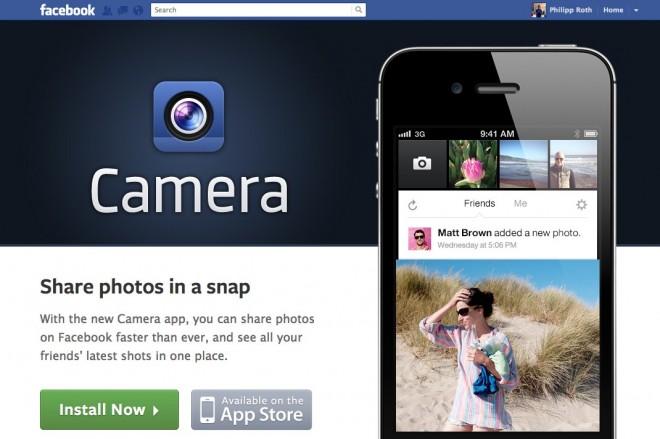 Facebook Kamera App für das iPhone