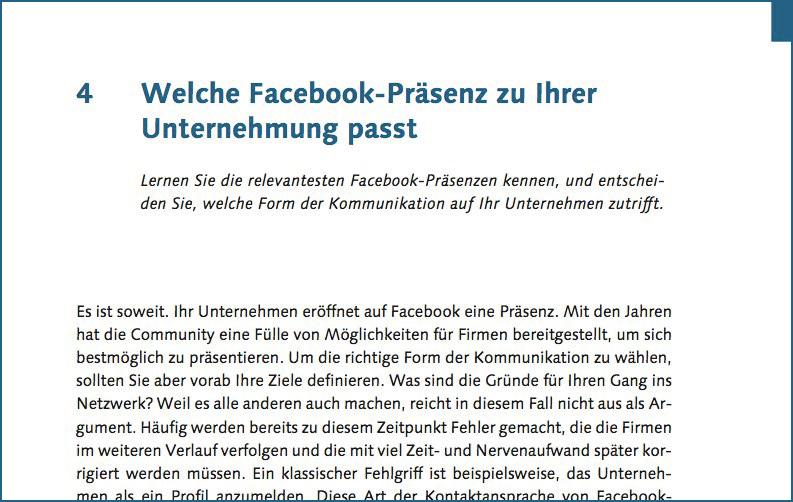 Whitepaper: Welche Facebook-Präsenz zu Ihrer Unternehmung passt (PDF, 30 Seiten)