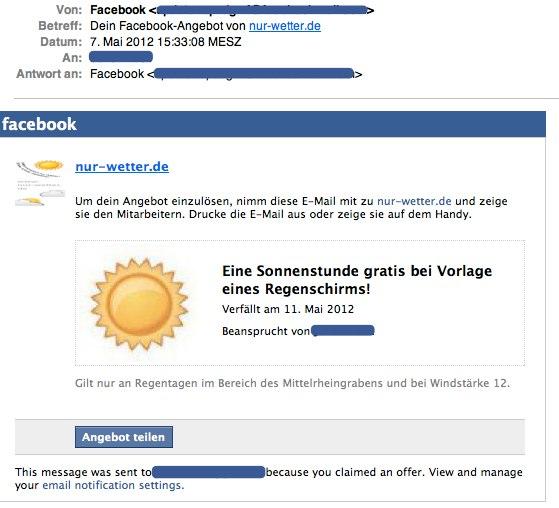 Hack: Facebook Offers jetzt in Deutschland nutzen!