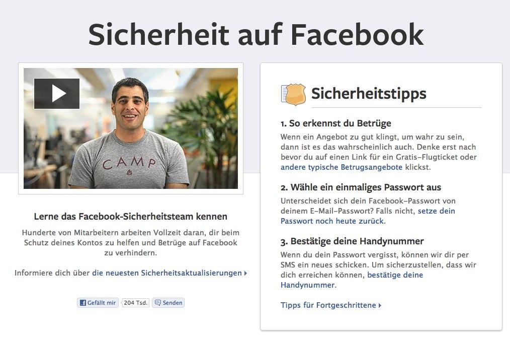 Facebook startet neue Offensive für mehr Sicherheit auf Facebook