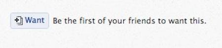 """Facebook testet """"Will ich haben""""-Button fürs Web"""