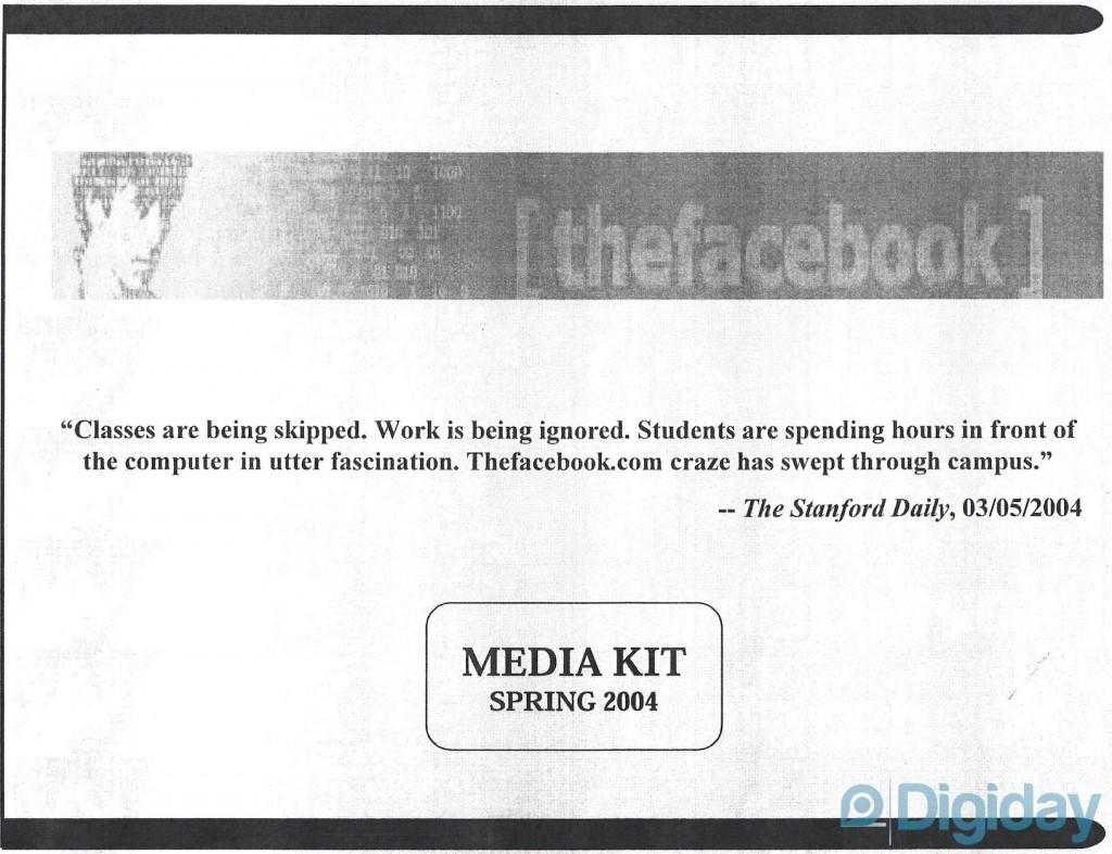 Altes Facebook Media Kit zeigt: So hat Facebook in 2004 Anzeigen verkauft