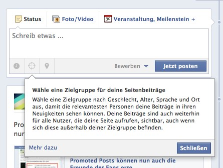 Breaking: Page Post Targeting ist da!