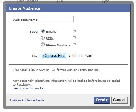 Facebook Ad Targeting: Erste Tests mit E-Mail, UID und Telefonnummer