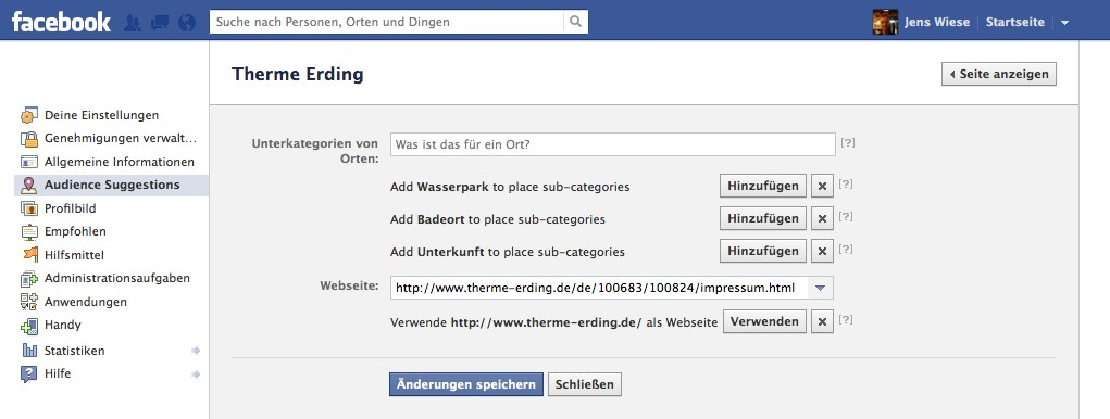 Neue Funktion im Facebook Pages Backend: Audience Suggestions