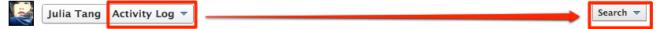 Einstellen eines Filter zum Anzeigen der Suchergebnisse im Aktivitätenprotokoll