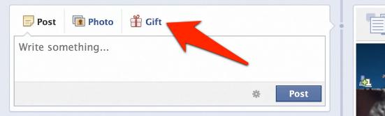 Facebook Geschenk verschenken innerhalb des Profil eines Freundes