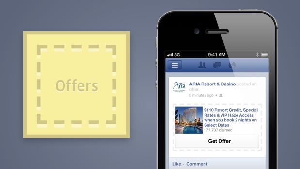 Facebook Angebote für alle Seiten verfügbar – aber an die Buchung von Facebook Ads gebunden.