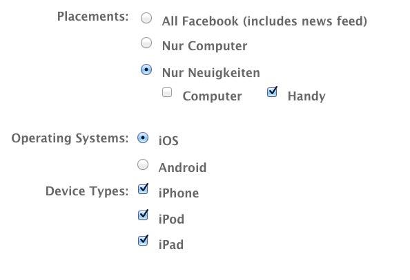 Facebook Anzeigen: Power-Editor erlaubt jetzt auch Targeting nach Handy Betriebssystem
