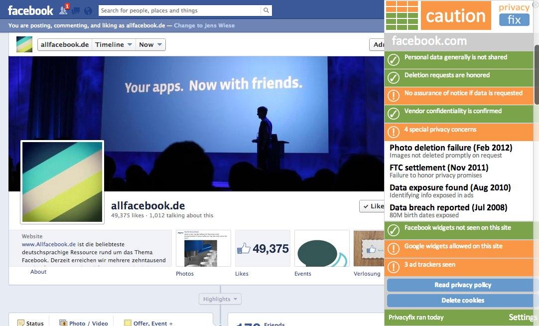 Privacy Fix für Chrome hilft beim Schutz der Privatsphäre auf Facebook