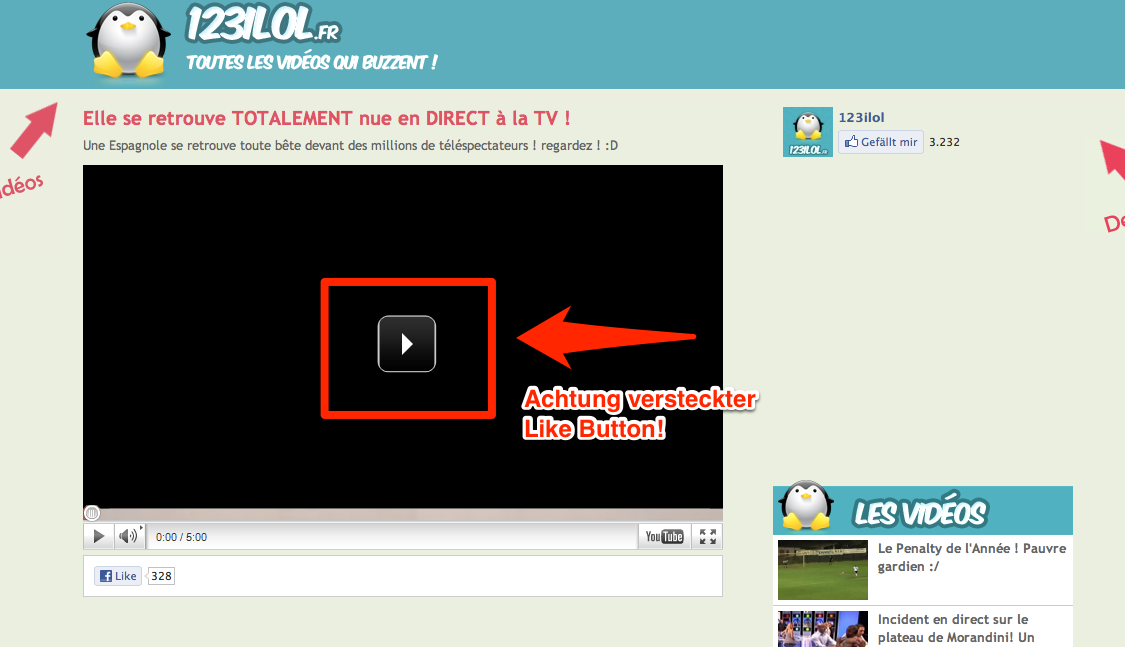 Achtung: Aktuelles Likejacking bei 123liol / 123jeris