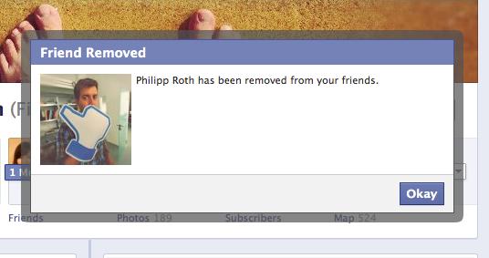 Mein Vorsatz für 2013: Man sollte eigentlich viel öfter Facebook Freunde löschen