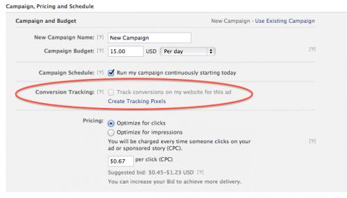 Facebook stellt Conversion Tracking für alle Nutzer zur Verfügung