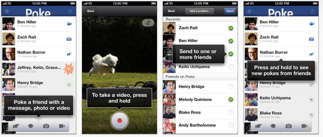 """Neue Facebook """"Poke"""" App für iOS mit """"Selbstzerstörungsmodus"""" für Nachrichten, Bilder und Videos verspricht mehr Privatsphäre"""