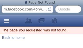 Direkt-Aufruf der URL liefert einen 404-Fehler