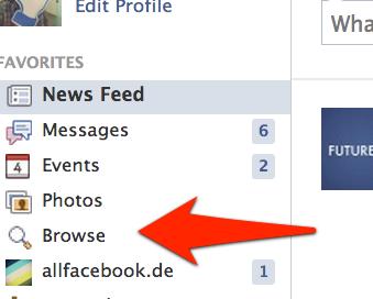 """Browse"": Facebook launcht neues Feature für Graph Search Nutzer"