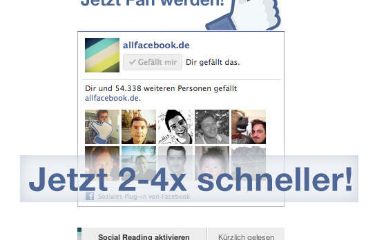 Facebook Like Box – Neue Version lädt 2-4x schneller!