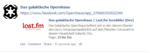 Beispiel Page-Tab-Url: Anzeige im Newsfeed