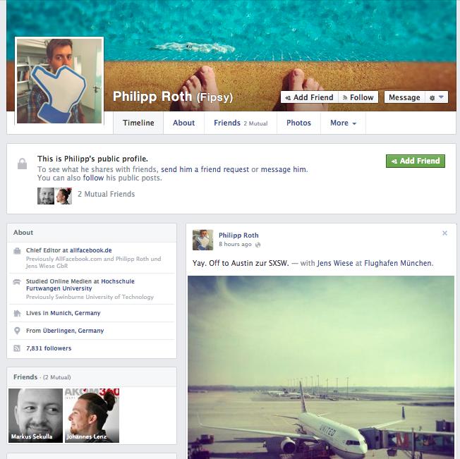 """Facebook testet weiter neue Timeline- Designs. Leicht veränderbare """"Sections"""" eingeführt"""