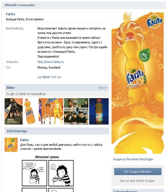 VKontakt-Beispiel-Community