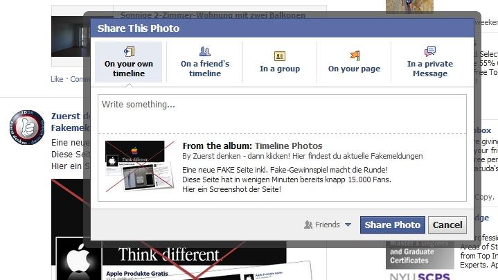 Facebook testet neue Share Funktion
