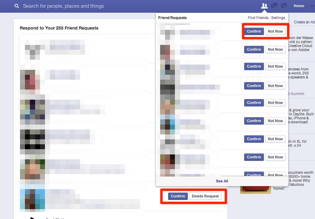 """Freundschaftsanfragen auf Facebook: Verschwindet nach 3 Jahren die """"Nicht jetzt"""" Funktion wieder?"""
