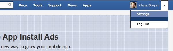 Facebook führt neue zentrale Developer Settings ein