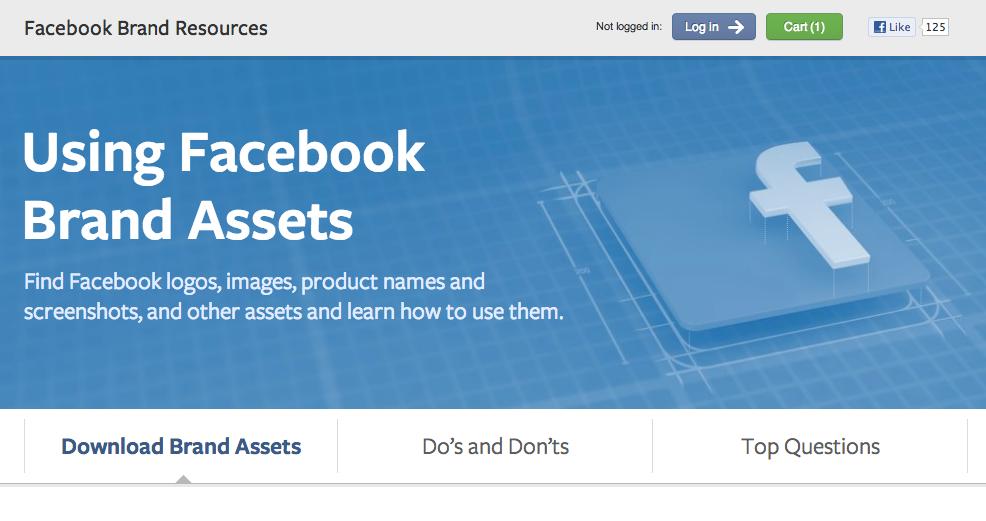 Download: Guidelines für die Nutzung der Marke Facebook, der Logos und Screenshots (PDF, 38 Seiten)