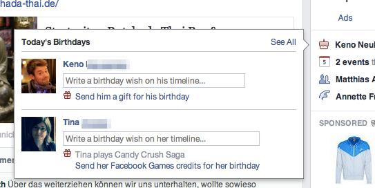 Facebook Geschenke / Gifts jetzt in Deutschland verfügbar, aber…