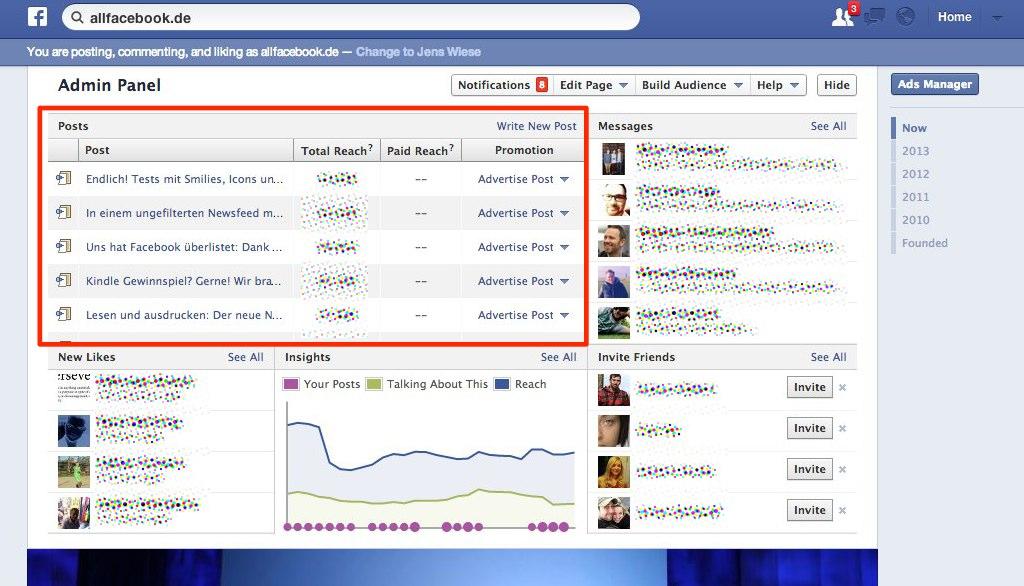 Ärger für das Community-Management: Änderung im Facebook Pages Admin Panel