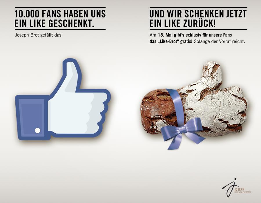 Ein Like zum Anbeißen: Wiener Bäcker verschenkt Like-Brot