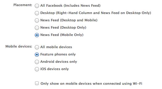 Facebook mit neuen Targeting-Parametern für mobile Anzeigen